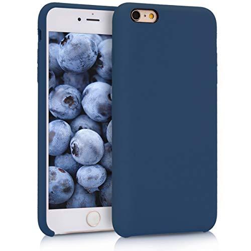 kwmobile Cover per Apple iPhone 6 Plus / 6S Plus - Custodia in Silicone TPU - Back Case Protezione Cellulare Blu Marino