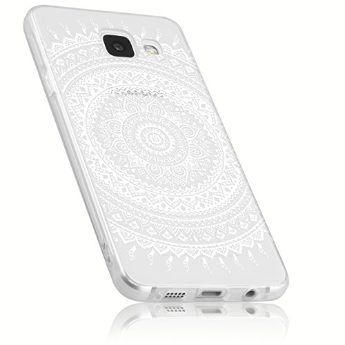 mumbi Hülle kompatibel mit Samsung Galaxy A3 2016 Handy Case Handyhülle mit Motiv Mandala weiss, transparent