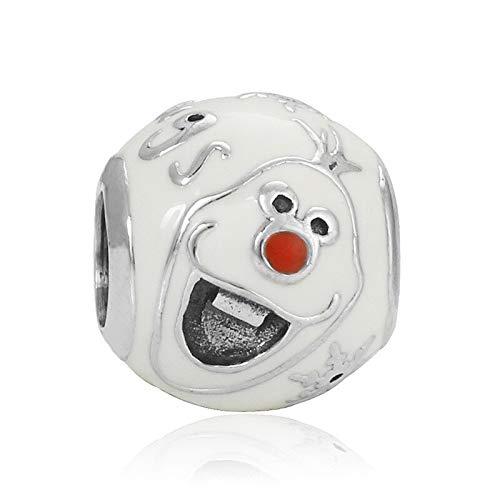 Pandora 925 joyería de plata esterlina colgantes novo bonito branco boneco de neve pingente contas adequado para charme pulseira senhoras jóias fazendo presentes