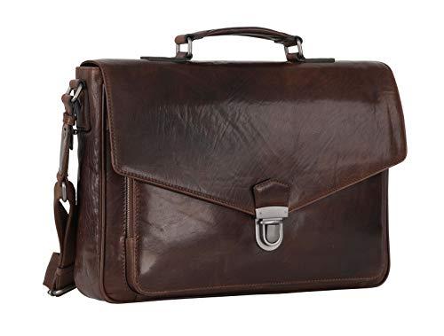 Leonhard Heyden Austin Briefcase Brown