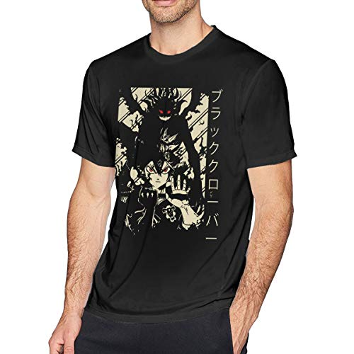 Men's Black Clover Short Sleeve T-Shirt Personality Adult Tee XL