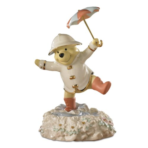 Image of Disney Winnie the Pooh Musical Figurine - Singing in the Rain