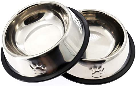 AYECEHI Stainless Steel Dog Cat Bowls Cat Food Bowls with Rubber Base for Small Dogs Cat Dish product image