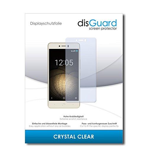 disGuard® Bildschirmschutzfolie [Crystal Clear] kompatibel mit BQ Aquaris U Plus [2 Stück] Kristallklar, Transparent, Unsichtbar, Extrem Kratzfest, Anti-Fingerabdruck - Panzerglas Folie, Schutzfolie