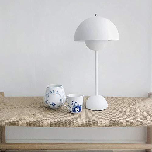 Zhuowei Flowerpot Lackierte Tischlampe, Schreibtischleuchte Für Heimtextilien Wohnzimmer Studie Schlafzimmer Klassische Beleuchtung Retro Designer,Weiß