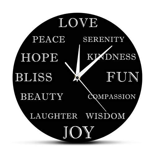 yage Hermosas Palabras Inspiradoras Reloj de Pared Moderno Decoración motivadora para el hogar Arte de Pared Educativo Reloj de Pared único Regalo de inauguración de la casa