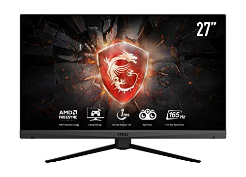 MSI Optix MAG272 - Monitor gaming de 27' LED FullHD 165Hz (1920x1080p, ratio 16:9, Panel VA, Freesync, Anti-glare) negro