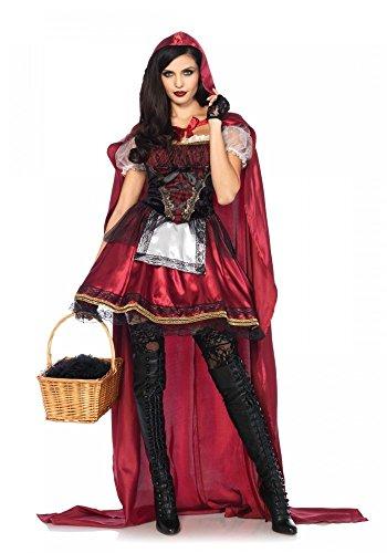 shoperama Captivating Miss Red Damen Kostüm mit Cape von Leg Avenue Rotkäppchen Märchen, Größe:S