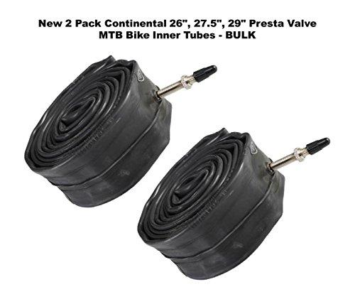 Continental New 2 Pack 26, 27.5, 29 Presta Valve MTB Bike Inner Tubes - Bulk (29x1.75-2.5)