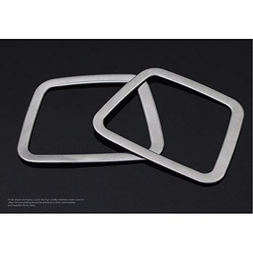 SJWMXN Auto dekorativen Rahmen Für Hyundai ix35, Edelstahl Auto Klimaanlage Entlüftung Dekorative Rahmenabdeckung Verkleidung Armaturenbrett Luftauslass Chrom Aufkleber