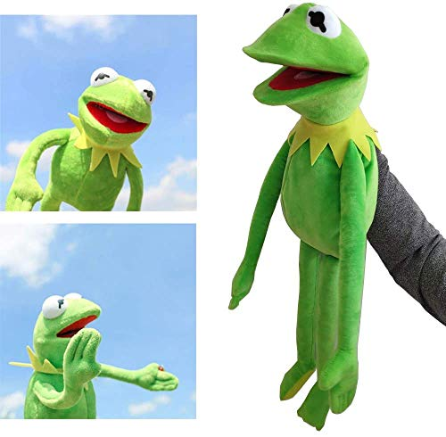 N\ A Kermit The Frog Hand Puppet Muppets Toys Performance Doll Christmas Day Children's Educational Toys 60cm