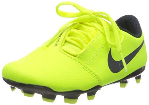Nike Jr. Phantom Venom Club FG, Botas de fútbol Unisex niño, Verde (Volt/Obsidian/Volt 717), 27 EU