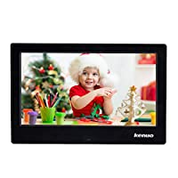 Advanced Digital Picture Photo Frame With High Resolution HD 1024x600(16:9) Eletronic Picture Frame with Video Player Stereo MP3 Calendar Auto On/Off Timer 10 inch