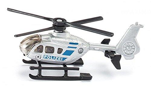 SIKU 0807, Polizei-Hubschrauber, Metall/Kunststoff, Silber, Drehbare Rotoren