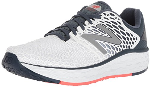 New Balance Men's Vongo V3 Fresh Foam Running Shoe, White, 12 D US