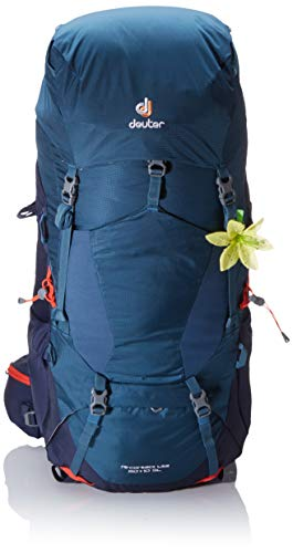 Deuter Aircontact Lite 60+10 SL Backpacking Pack, Arctic/Navy