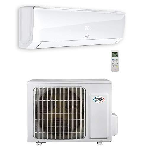 Set climatizzatore monosplit 3,5 kW DC inverter 12000BTU da parete bianco gas R32 (UE+UI) ARGO ECOLIGHT12