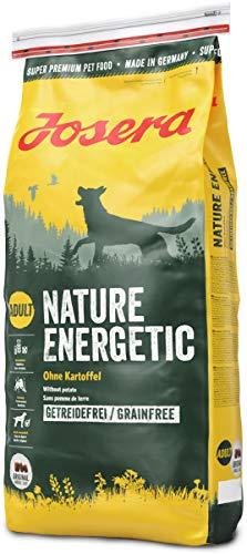 Josera Nature Energetic (1 x 15 kg) | getreidefreies Hundefutter ohne Kartoffeln | Super Premium Trockenfutter für ausgewachsene Hunde | 1er Pack