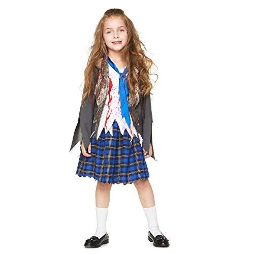 Karnival Kostuums 84571 Halloween Zombie Schoolmeisje Kostuum, Meisjes, Multi, XX-Large