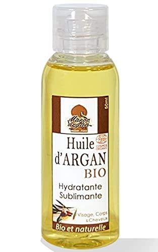 Huile D'Argan 100% BIO & Artisanale du Maroc 50ml - Anti-rides et Nourissante - Soin Peau et Cheveux, Vierge et pressée à froid, Qualité supérieure garantie.