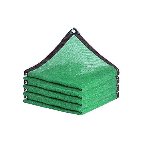 Qdesign Cortina de la Red 85% UV Resistente Sombra Bloqueador Solar Tela Parasol de Vela Lona Mesh de Efecto Invernadero Plantas de Flores al Aire Libre Patio, Verde (Size : 3x5m)