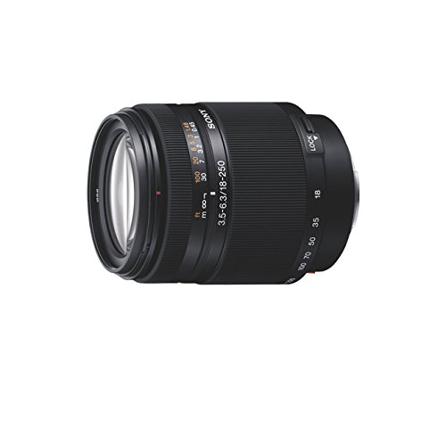 Sony SAL18250 18-250mm Super-Zoom-Objektiv (F3,5–6,3, A-Mount APS-C, geeignet für A77, A68, A58 Serien)