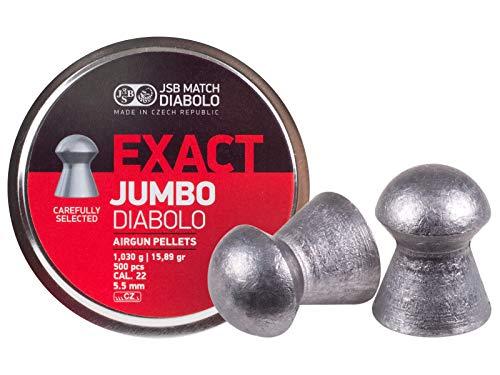JSB 546247-500 Jumbo Exact Air Gun Pellets .22 Cal, 15.89 Grains, 500ct