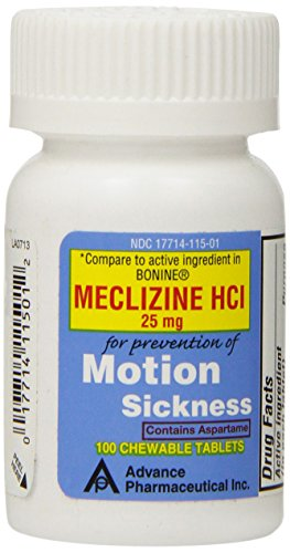 SDA Laboratories Meclizine Chewable Tablets, 25mg, 100 Count