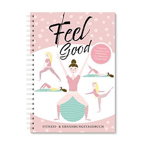 Trainingstagebuch & Ernährungsplaner| Rosa Fitnessplaner & Ernährungstagebuch für Frauen mit 12 Wochen Programm zum Wohlfühlen | Trainingstagebuch für ... Cardio, Gym, Workout und Diät & Ernährung