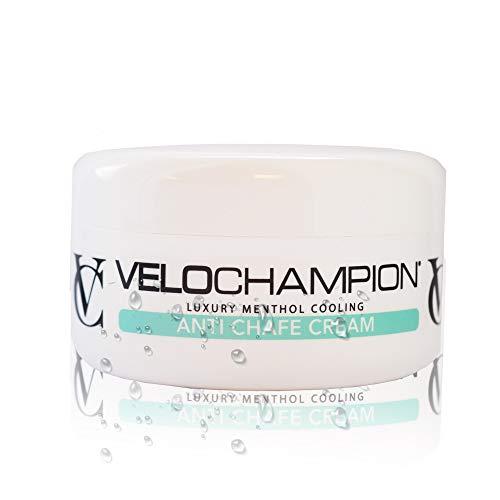 VeloChampion Luxus Anti Scheuern Chamois Cream Mit Menthol Duft, Idealer hygienischer Balsam für Radfahrer, Läufer und andere sportbezogene Aktivitäten – Gut für Ihre Haut, reduziert Reibung (150ml)