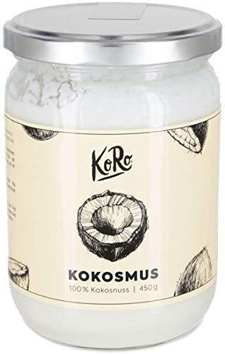 KoRo - Bio Kokosmus 450 g - Vegan glutenfrei frei von Zusätzen - Natürlich cremiges Kokosmus aus kontrolliert biologischem Anbau