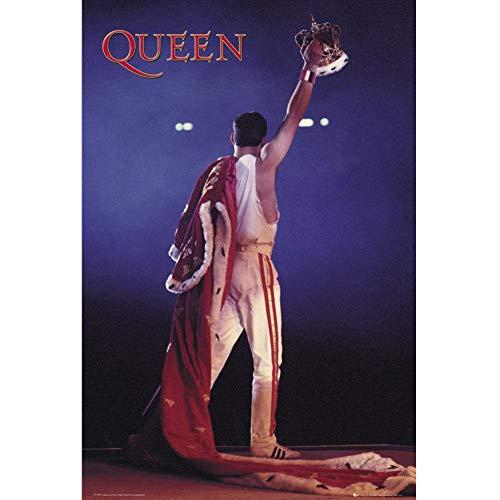 Queen Crown Unisex Poster Multicolor Papier 61 x 91,5 cm Band-Merch, Bands