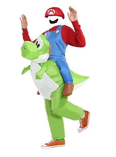 MJPARTY Disfraz hinchable para adulto de Yoshi