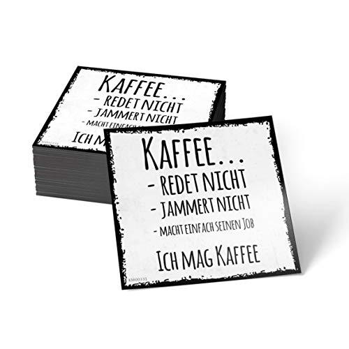 how about tee Kaffee redet Nicht, jammert Nicht, Macht einfach seinen Job. Ich mag Kaffee - Kühlschrank- / Whiteboard-Magnet