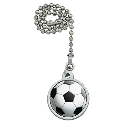 Soccer Ball Football Ceiling Fan and Light Pull Chain