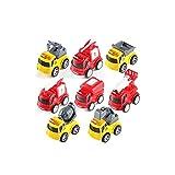 ZAKRLYB Camión Vehículo de construcción Vehículo de juguete con motor de fricción Mini camión Camión volquete Excavadora Tire hacia atrás del coche Coches de juguete Vehículos educativos Juguetes Vehí