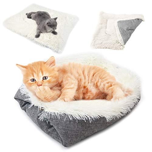 Cama Manta de Gato, Almohadas para Camas para Perros Pequeños, Cama para Mascotas Pequeñas Lavable Felpa Sofá de Gatos Muy Suave Cómoda Adecuado Mejor Cama para Perros Pequeños y Gatos