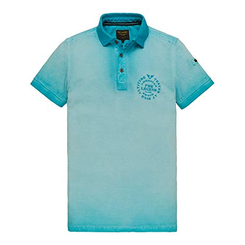 PME Legend Short Sleeve Polo Light Pique Cold Dye - Poloshirt