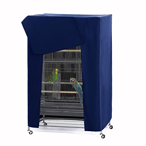 PONY DANCE Pets Product Universal Birdcage Cover Blackout & Breathable Birdcage Cover for Pets' Good Night, Small, Blue, 21 Inches L x 21 W x 28 H