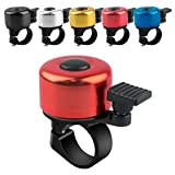 ADOGO Fahrradklingel, Fahrrad Klingel laut und klar, Fluminiumlegierung Fahrradglocke Laut für Mountainbike, Citybike, Rennrad, 22.2mm-22.8mm Lenker (Rot)