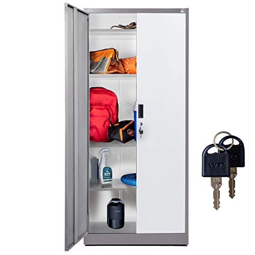 Fedmax Storage Cabinet with Doors and Shelves - 71