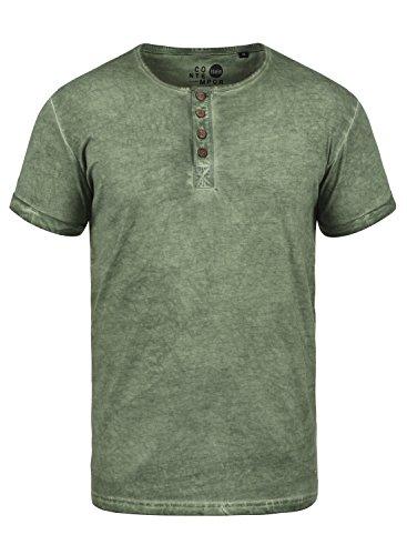 !Solid Tihn Herren T-Shirt Kurzarm Shirt Mit Grandad-Ausschnitt Aus 100{3ce897c0077b198b3d3b8ddd7f69200b251463991e1b01b009994664f4e43cf1} Baumwolle, Größe:M, Farbe:Climb Ivy (3785)
