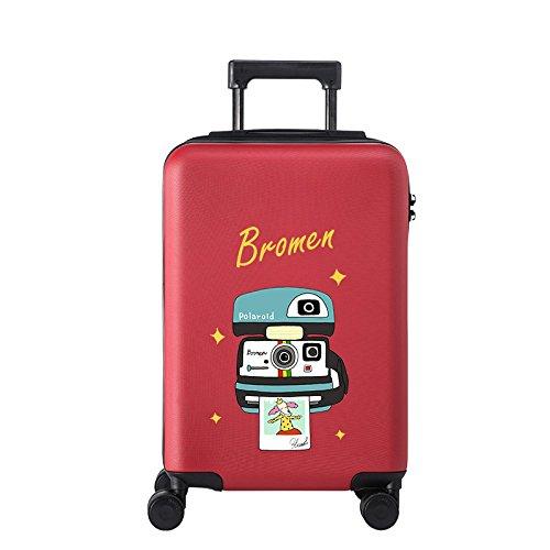Equipaje Lyl Bolsa Ligera TSA Lock Trolley Maleta Dura de la PC de Viajes Shell Mano H (Color : 24 Inch)