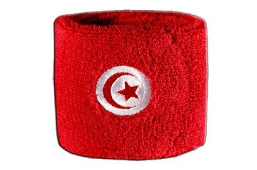 Flaggenfritze Schweißband Motiv Fahne/Flagge Tunesien + gratis Aufkleber