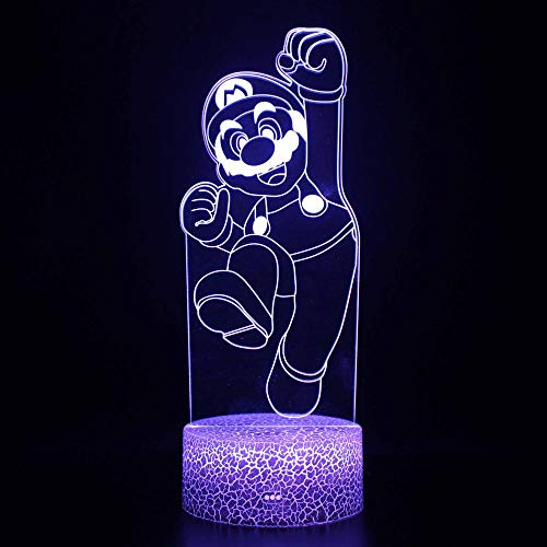 certainPL Acrylic 3D LED 7 Color Change Bedroom Table Night Light Boy Gift