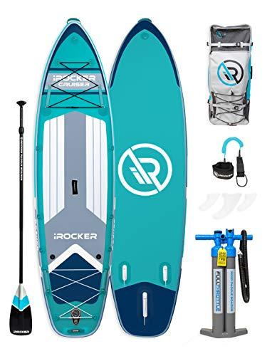 """iROCKER Cruiser Inflatable Stand Up Paddle Board 10'6"""" Long 33"""