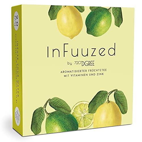 """720°DGREE Geschmack für Wasser """"inFuuzed"""" - Zitrone-Limette - Das Kaltgetränk ohne Zucker - Natürlich leckere Getränke für Deine Trinkflasche - Alternative zu Limonade, Eistee, Sirup, Brausetabletten"""