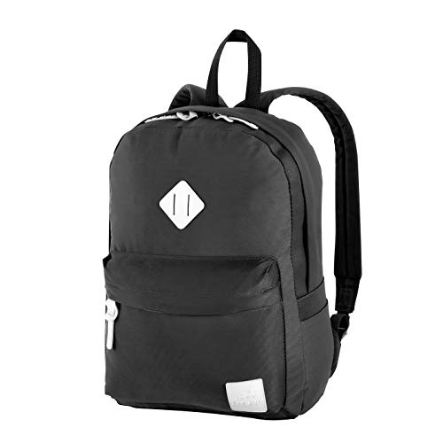 Let's Go moderner Rucksack Dorethe Roundshape Unisex Daypack für Jugendliche und Erwachsene (29 x 39 x 11 cm) (schwarz)