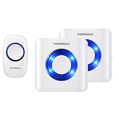 CUIS- デフミュート難聴特別ワイヤレスドアベル、ホームリモコン電子オールドポケットベル、ワイヤレスドアベルキット、プラグインレシーバー、4音量レベル、52チャイム、LEDフラッシュ&CDサウンドホワイト (Size : Flash x2)