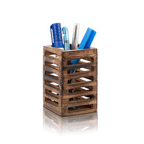 Birthday Gift Ideas Handcrafted Wooden Pen Pencil Holder Organizer For School Desk Home or Office Unique Stationary Supplies for Kids Girls Boys Adults Artists Birthday Housewarming Gift Ideas